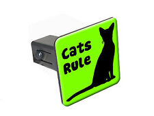 "Cats Rule - 1 1/4 inch (1.25"") Trailer Hitch Cover Plug Insert"