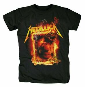 VINTAGE & OFFICIAL  METALLICA JUMP IN THE FIRE Unisex Black T-Shirt Size S-3XL