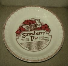 Vintage Country Harvest Strawberry Pie Plate Deep Dish