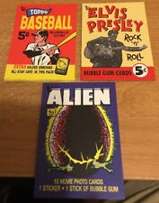 2018 Topps 80th Anniversary Set Cards Presley,Baseball and Alien- Cards 49,50,51