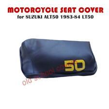 MOTORCYCLE SEAT COVER SUZUKI ALT50 193-84 LT50 DARK BLUE WITH YELLOW