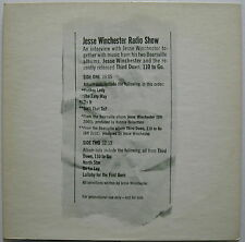 JESSE WINCHESTER Radio Show 1972 US Promo Only Music & Interview LP Minty!
