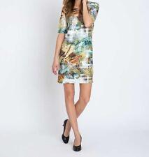 """9.5747 Designer Jersey-Kleid mit Pailletten """"bunt"""" Gr.36"""