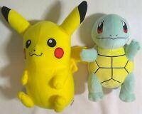 Pokémon Pokemon Squirtle Pikachu lot 2 stuffed animal plush toy vintage
