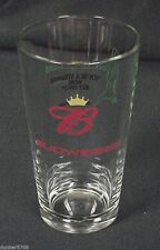 "RARE BUDWEISER 5 3/4"" BEER GLASS FROM THE PONDEROSA BAR IN HAMILTON, MONTANA USA"