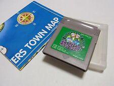 Pokemon Green Version + Map Pocket Monsters Midori GB GameBoy Japan Japanese