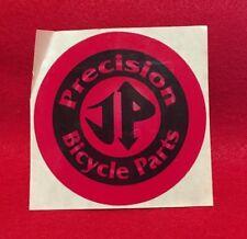 "NOS VINTAGE JP PRECISION BICYCLE PARTS ROUND 3"" BMX STICKER"