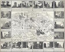 1945 Barcus Pictorial City Map or Plan of Detroit, Michigan