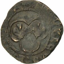 [#507988] France, Louis XI, Denier Tournois, Atelier incertain, TB+, Billon