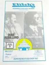 1994 Elitch's Amusement Park Concert Poster, Duke Robillard and Johnny Adams