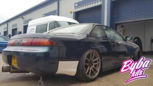 Navan Style Rear Bumper + Rear Spats fit to Nissan 200sx S14 s14a