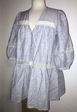 NWT ZARA Blue & White Striped Lace Button Maternity Blouse Top Shirt S / $49.90