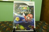 Super Mario Galaxy (Nintendo Wii, 2007) Complete w/ Manual - Tested - Works  VG+