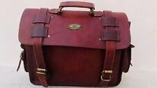 """18"""" New Messenger Portfolio Laptop Satchel Shoulder Bag Men's VGenuine Leather"""