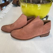 Frye Elyssa Suede Leather Shootie Ankle Booties Boots Rosewood Women's Size 9