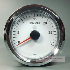 VDO  VIEWLINE  DREHZAHLMESSER - 3000UPM  85MM  TACHOMETER 12 + 24V weiß Chrom