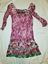 LIU JO Dress Floral Size 42 S/M Silk 100% (B1)