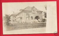 RPPC  BUILDING  SCHOOL OR HOSPITAL   UNDIVIDED BACK  REAL PHOTO POSTCARD