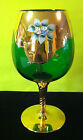 Antique Bohemian Emerald Glass Decorative Goblet