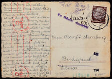 WW2 Holocaust 1941 Jewish Family PC REICH Breslau to HUNGARY VERY SCARCE LATE