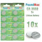 10 X Super CR2032,DL2032,BR2032,KL2032, 3 VOLT PoundMax LITHIUM BATTERIES