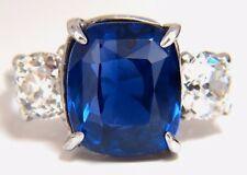 Agl Zertifiziert 9.23ct Natürlich keine Wärme Sri Lanka Saphir Diamant Platin +