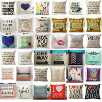 18'' Home Decor Cotton Linen Throw Pillow Case Romantic Sofa Waist Cushion Cover
