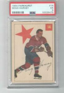 1954 Parkhurst Doug Harvey PSA 5 # 14 Montreal Canadiens