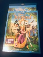 Tangled~ 2010/2011 Blu-ray/bluray~Rapunzel Disney animated (+DVD) 2-disc set~two