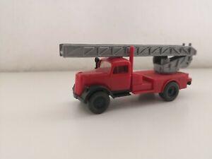 WIKING H0 1:87 Opel Drehleiter Feuerwehr aus Sammlung