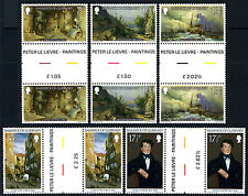 Guernsey 213-217 gutter pairs, MNH. Christmas. Painting by Peter Le Lievre, 1980