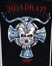 ROADRAT ROAD RATT 'BAD TO THE BONE'  VINTAGE SEW ON BACK PATCH BACKPATCH