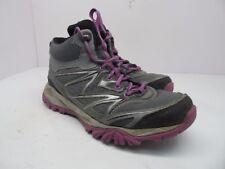 Merrell Women's Capra Bolt Mid Waterproof Hiking Boot Grey/Purple Size 6.5M