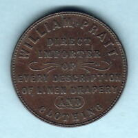 New Zealand - Token. Pratt 1d.  Christchurch..  gVF - RARE.. R-6.