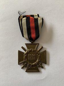WW1 German 1914-1918 Hindenburg Hounor Cross with Swords Third Reich 1934-44