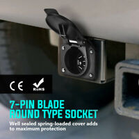 🔥4-Way Flat to 7 Way Round RV Blade Wiring Adapter Trailer Hitch Plug &  ^ ﹊