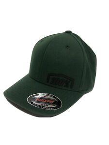 100% 2019 Revolt Flexfit Hat Green Size S/M 20070-005-17