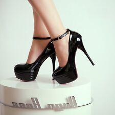 2016 Party Womens Plus Size Court Dress High Heel Stilettos Platform Party Shoe