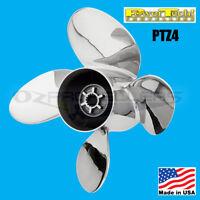 14 1/4 x 22 Johnson Evinrude 90-300HP Power Tech Stainless Propeller 4 Blade