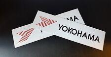 2 x Yokohama Tyres Stickers Race & Rally Car Stickers. 140mm x 30mm