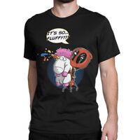 Deadpool With A Unicorn T-Shirt, Marvel Comics Tee, All Sizes
