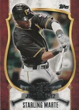 2015 TOPPS UPDATE STARLING MARTE OF PIRATES 1ST HOME RUN  #FHR-14