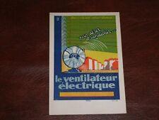 More details for original french advertising poster postcard - le ventilateur electrique.