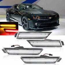 Clear Lens Front & Rear LED Bumper Side Marker Lights For 2010-2015 Chevy Camaro