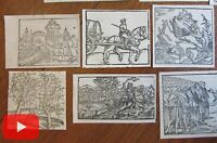 Woodcuts made 1550-1590's lot of 20 Munster Cosmographia small appealing