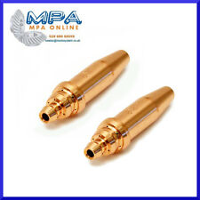 """2 X ACETYLENE ANM GAS CUTTING NOZZLES FOR NM CUTTERS, HD ATTACHMENTS 3/64"""""""