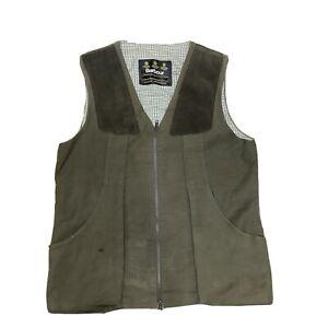 Barbour Vintage Shooting Gilet Waistcoat Bodywarmer Hunting Vest Jacket M