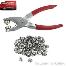 Grommet Eyelet Setting Pliers with 100 Silver Grommets for Canvas/ Vinyl/leather