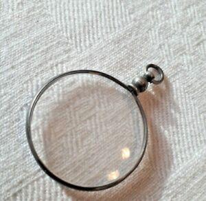 Ancien Pendentif Médaillon Porte Photo  Argent poinçon tête de hure ( sanglier )