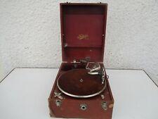 Ancien gramophone phonographe valise Made in British Pat.N° 65333 Selecta REGD